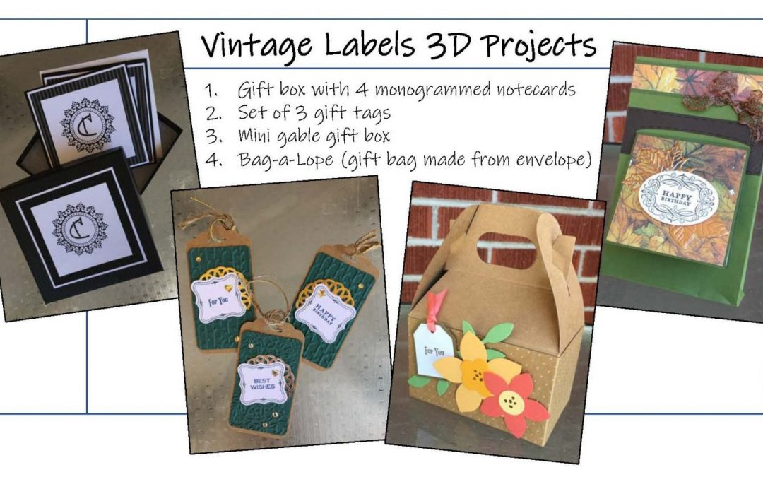 """Vintage Labels 3-D Projects"" (Papercrafting) #0818-03"