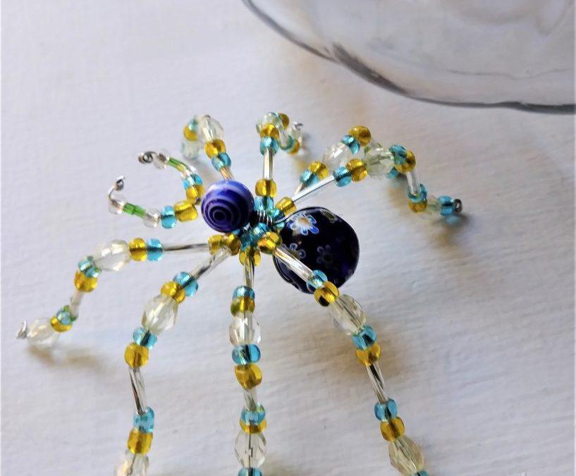 """Halloween Wire & Bead Spiders"" #1018-07"