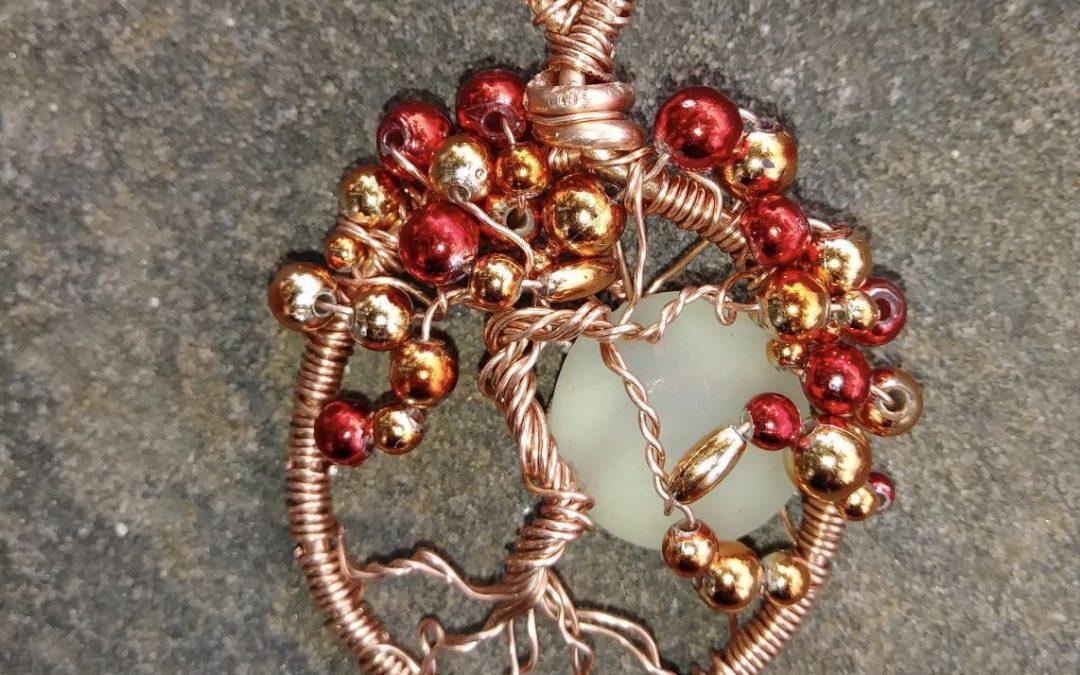 """""""Halloween Wire Tree Pendant"""" #1018-08"""