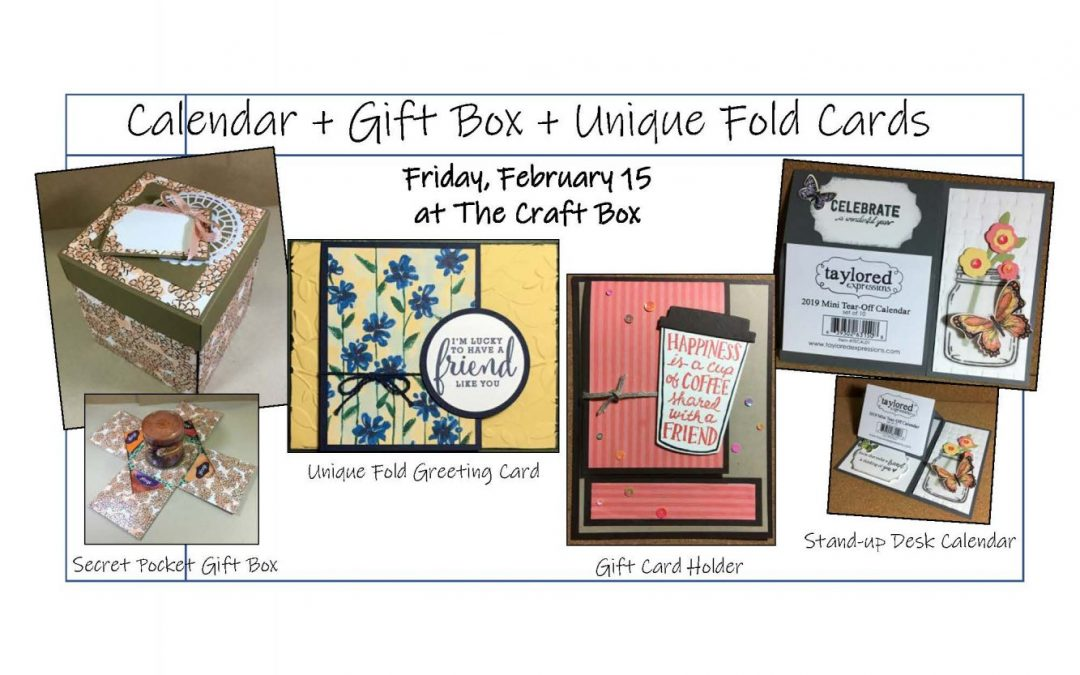 """Calendar, Gift Box & Unique Fold Cards (Papercrafting)"" #0219-01"