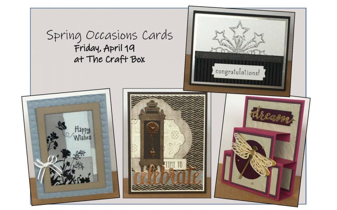 """""""Spring Occasions Cards (Papercrafting)"""" #0419-04"""
