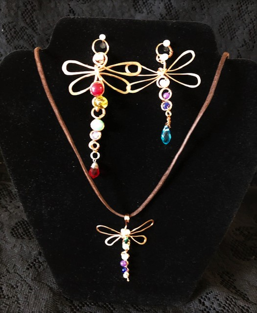"""""""Wire Dragonfly Pendant (Jewelry Making)"""" #0619-04"""