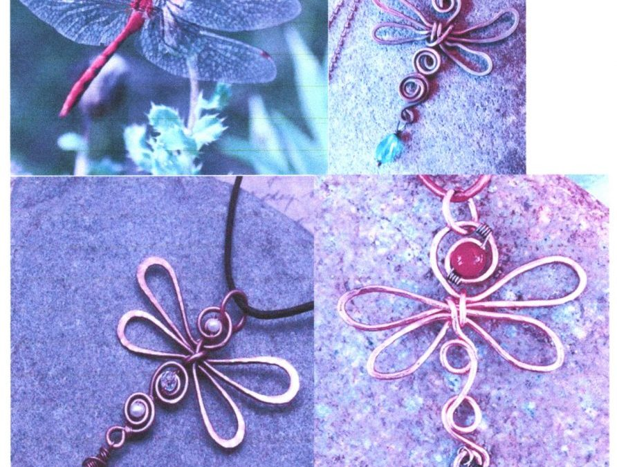 """""""Wire Dragonfly with Beads""""  #1021-03"""